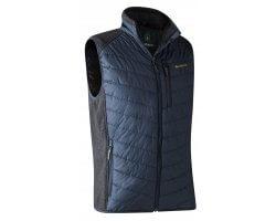 Gilet de chasse bleu Moor avec tricot DEERHUNTER