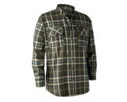 Chemise à carreaux vert kaki Caribou DEERHUNTER