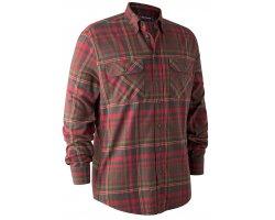 Chemise à carreaux Marvin marron et rouge DEERHUNTER