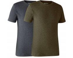 Lot de 2 tee-shirt bleu et kaki DEERHUNTER