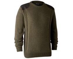 Pull en tricot col rond Sheffield cyprès DEERHUNTER