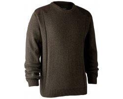 Pull en tricot col rond Sheffield marron DEERHUNTER