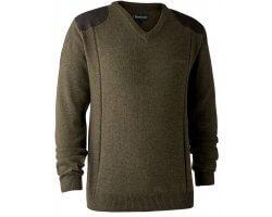 Pull en tricot col V Sheffield cyprès DEERHUNTER