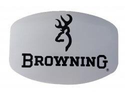 Autocollant Browning blanc et noir