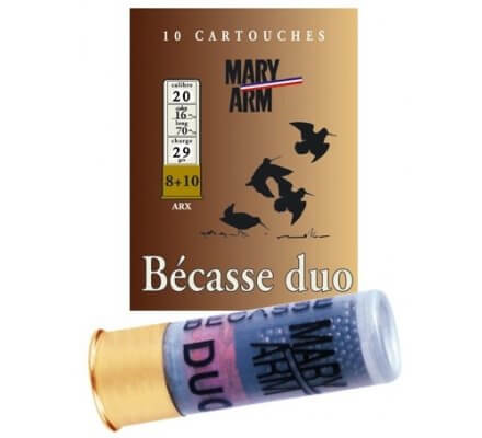 Cartouche Bécasse Duo 29 cal 20 Mary Arm