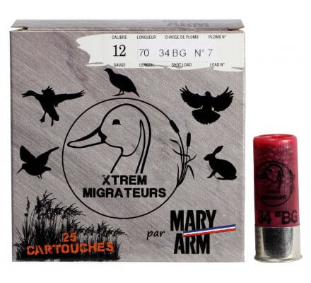 Cartouche Xtrem Migrateurs 40 BJ cal 12 Mary Arm