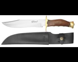 Dague Defender avec manche en bois et étui en cuir