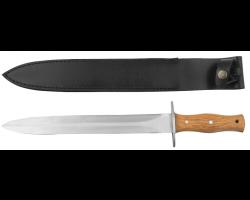 Dague avec manche en teck et étui en cuir