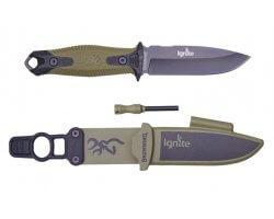 Couteau fixe Ignite fixe noir & kaki Browning
