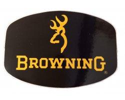 Autocollant Browning jaune et noir