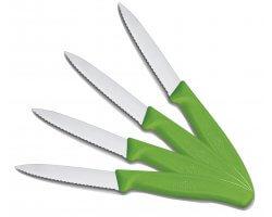 Pack 4 couteaux de table dentelé vert VICTORINOX