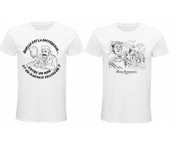 Lot de deux tee-shirts blanc Les inconnus