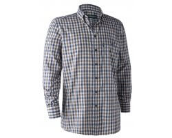 Chemise à carreaux bleu Marcus DEERHUNTER