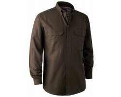 Chemise manches longues Reyburn marron Bamboo DEERHUNTER