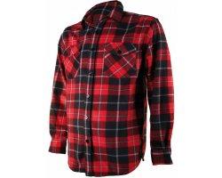 Chemise polaire à carreaux rouge Treeland