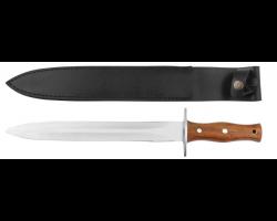 Dague avec manche palissandre et étui en cuir