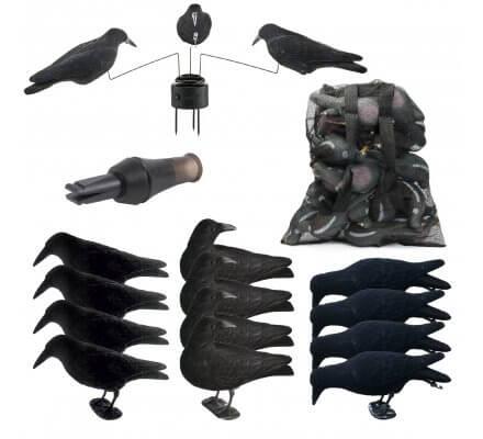Pack Platinium 12 appelants, appeau, sac pour appelants et manège à corbeaux