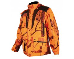 Veste de chasse matelassée camouflage orange Fire Somlys