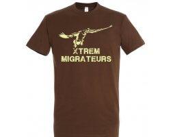 Tee-shirt marron oie à la pose XTREM MIGRATEURS