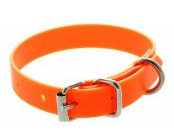 Collier PVC petit chien orange fluo 1