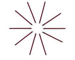 Pack éco 10 colliers PVC souple rouge