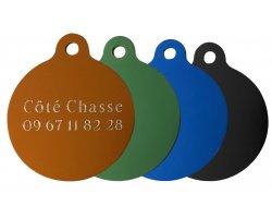 Médaille ronde gravée colorée 3,5 cm