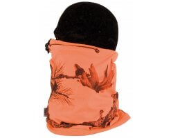 Tour de cou polaire camouflage orange fluo SOMLYS