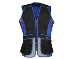 Gilet de tir ball-trap noir/bleu EVO PERCUSSION