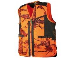 Gilet anti-ronce camouflage orange TREELAND