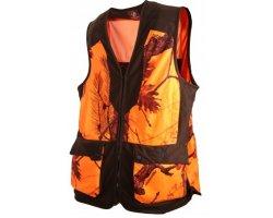 Gilet de chasse camouflage orange SOMLYS