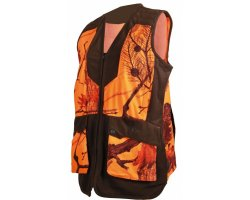 Gilet de chasse femme camo orange SOMLYS
