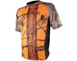 Tee-shirt camouflageorange et bois 3DX SOMLYS