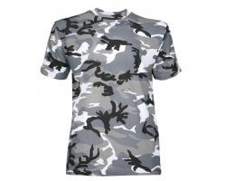 Tee-shirt enfant camouflage gris PERCUSSION