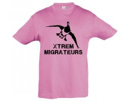 Tee-shirt enfant rose colvert XTREM MIGRATEURS