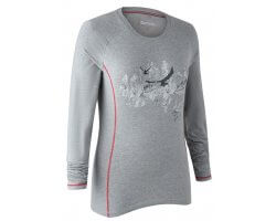 Tee-shirt manches longues gris clair Lady Hazel DEERHUNTER