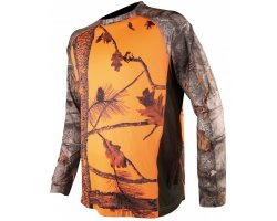 Tee-shirt manches longues camouflage orange 3DX SOMLYS