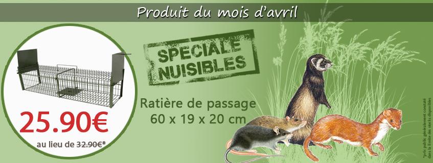 Produit du mois d'avril : la ratière de passage 60x19x20cm