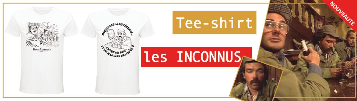 NOUVEAUX TEE-SHIRT LES INCONNUS