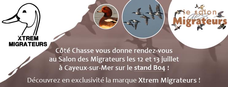 Côté Chasse vous donne rendez-vous au Salon des Migrateurs les 12 et 13 juillets à Cayeux-sur-Mer sur le stand B04 !